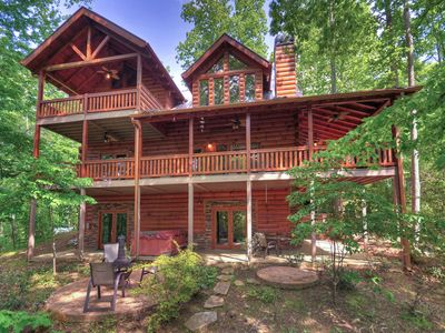 Photo for NEW! Luxe 6-Acre Blue Ridge Cabin w/Hot Tub & View