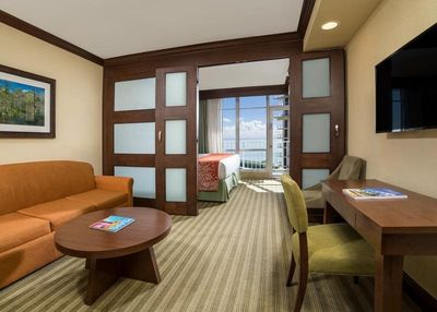 Suites has a bedroom for 2 guests and separate sleeping area for 2 more guests