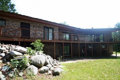 Great southern exposure overlooking beautiful Birch Lake, MN.  All glass doors!