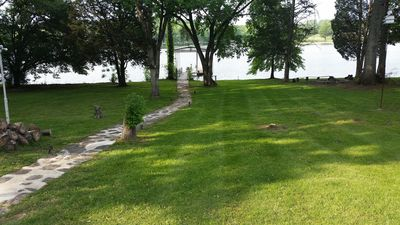 Photo for 3 Bedroom Lakefront Home W/Private Dock, Jacuzzi, Pool Table & Game room!