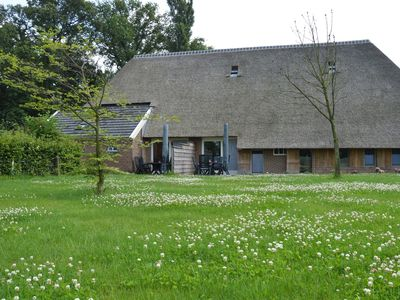 Photo for Staying in a thatched barn with bedroom and box bed, beautiful view, Achterhoek