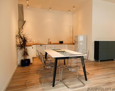 Photo for Zugspitzloft - 90 m² LOFT - Apartment for 2 - 5 pers. with mountain view at the torrent