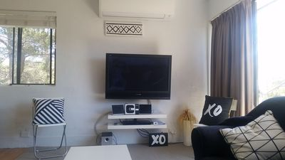 TV Aircon/ Heater and comfy couch