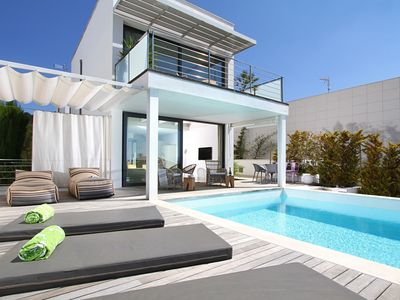 Photo for Designer Alcanada is a Super chic designer villa just minutes from the beach with stunning sea views
