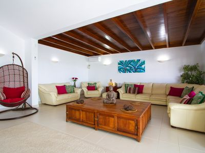 Photo for LUXURIOUS 7 BEDROOM VILLA, PANORAMIC SEA & MOUNTAIN VIEWS, AND A SALT WATER POOL