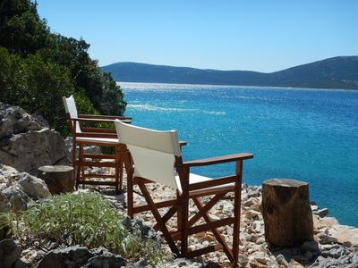 Photo for Private beach at only 20m, private bay, peace and comfort