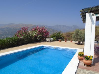 Photo for Beautiful Private Villa + 8x4m Pool, Sea And Panoramic Mountain Views