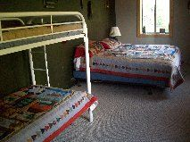 One of the 4 fully equipt bedrooms. This is the Bear and Moose Room.