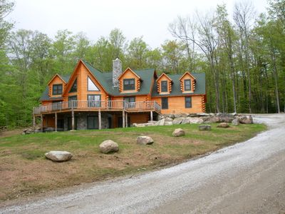 Photo for Best Deal on the Mountain! Fabulous Log Home, 3 King Master Sts, Hot Tub