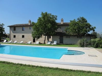 Photo for Nobelvilla in a 70-hectare estate with a beautiful view of Assisi.