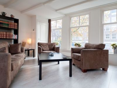 Photo for Charming two bedroom apartment, that can accommodate four guests, located in the Jordaan area in Ams
