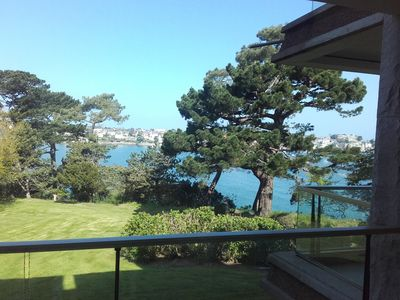 Photo for STUDIO 30 m2 sea view with terrace in private park