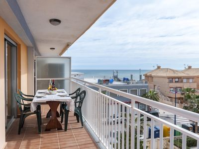 Photo for AMANECER (MARENYS) - Fantastic apartment with private terrace, views to the sea and the beach only 150 metres away.