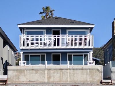 Photo for Del Mar Ocean front &18th st. 1st floor large patio on the sand WiFi BBQ Garage