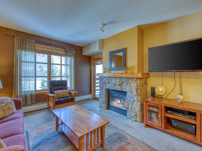 Photo for Cozy, resort condo near the lifts & restaurants w/ shared hot tub & fitness room