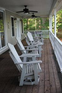 Relax on the upstairs porch overlooking the lake or enjoy a game of foosball