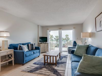 Photo for NEW LISTING! Gulf view condo in beachfront bldg w/ shared pools/hot tub/tennis!