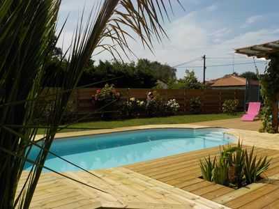 Photo for House 8 pers with enclosed garden- Ideal family with children. Arcachon bay