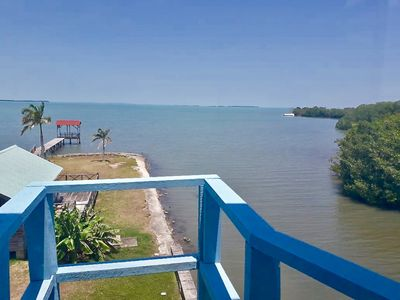 Photo for Enjoy beautiful Caribbean Sea views from See Belize 1-BR Sea View Sunroom Escape