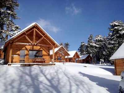 Photo for Cozy Wooden Chalet in Camping Huttopia