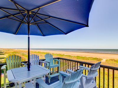 Photo for Beachfront, dog-friendly home w/ amazing views, deck, grill, & lots of space!