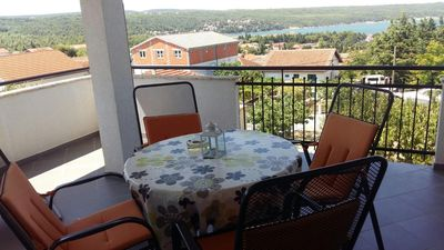 Photo for Studio flat with terrace and sea view Karin Gornji, Novigrad (AS-16610-a)