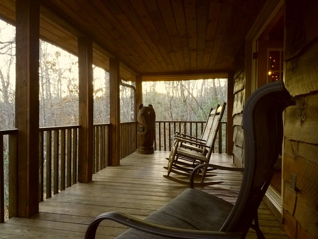 3 story log cabin big deck private lake river beach for Three story log cabin