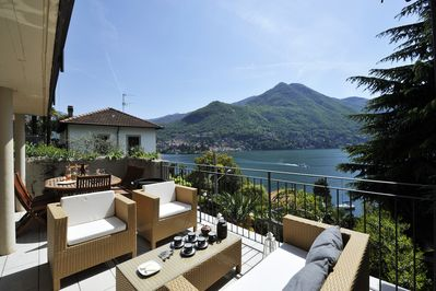 Private terrace with beautiful view on the lake