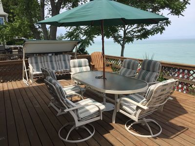 Photo for Lake Michigan Beach Front Rental in Grand Beach...Golf Cart Available For Use