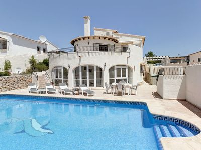 Photo for This 5-bedroom villa for up to 9 guests is located in Denia and has a private swimming pool, air-con