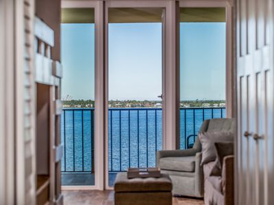 Photo for Gorgeous, Top-Floor Waterfront Unit, Entirely Renovated, 1 Bedroom, 1.5 Bath