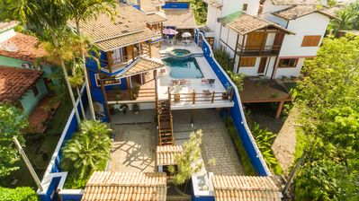 Photo for PREMIUM BUNGALOW ON THE BEACH OF CURRAL - ILHABELA -5 ROOMS 12 PEOPLE