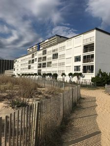 Building side view from the beach