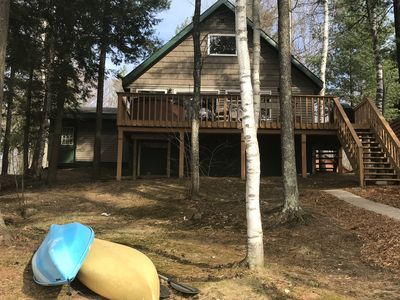Photo for Sunset Beach Chalet W/Outdoor Hot Tub on Lake Arrowhead! Kayaks, Wi-fi, Pool!