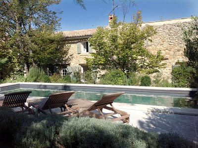 Photo for Village house Rousset les Vignes, charming and elegant, garden and private swimming pool