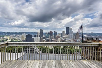 Discover downtown Pittsburgh from this 4-bed, 4.5 bath vacation rental townhome.