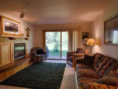 Photo for Charming 2 bedroom/2 bath ground floor condo close to Grand Targhee and Driggs.