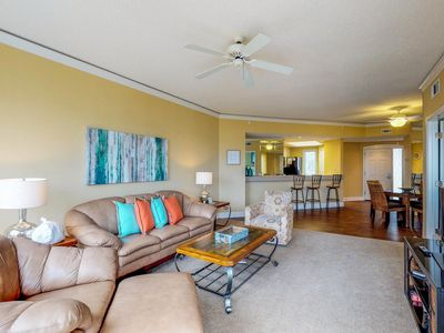 Photo for Oceanfront condo with shared pool & hot tub + boardwalk leading to the beach