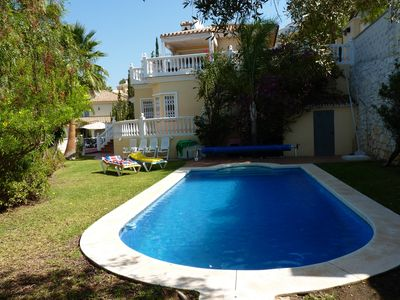 Photo for Large and Luxurious 5 bedroom villa with own heated pool & gardens
