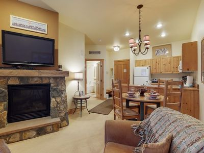 Photo for NEW LISTING! Walk to the gondola from this condo w/shared pool & hot tub access