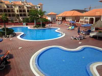THE TWO HEATED SWIMMING POOLS WITH FREE SUNBEDS