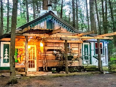my boho cabin in the forest