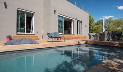 Photo for CONTEMPORARY VILLA OVERLOOKING GOLF NÎMES with POOL DECKS GARRIGUE