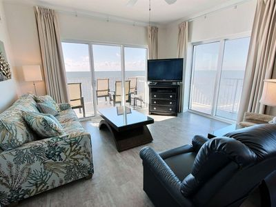 Photo for Pvt. Balcony Gulf-Front, 3BR/Sleeps 10, W/D, Pool. Free Daily Activities - Crystal Shores West 1008