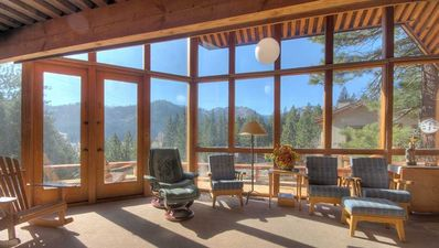 View of Squaw Valley Slopes, KT-22, Valley from Living Room/Fireplace Area