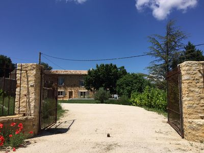 Photo for LAST MINUTE IN GORDES MAGNIFICENT MAS CLEAR VIEWS SECURE SWIMMING POOL CLOSED GARDEN