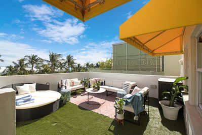 Watch all the action on Ocean Drive from your private rooftop!