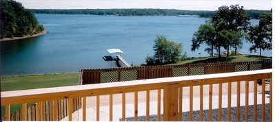 View of lake and dock from upper deck