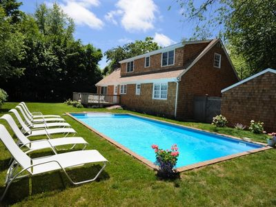 East Hampton Village - relax poolside amidst complete privacy and sunshine.