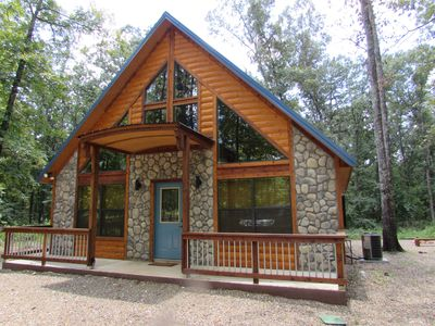 Photo for Ole Blue - Modern, Rustic Cabin, WiFi, Hot Tub & much more!